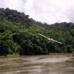 Pilot Steve Saint flying overhead